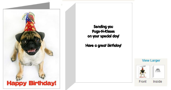 Pugs Dogbreed Gifts Pug Greeting Cards Notecards