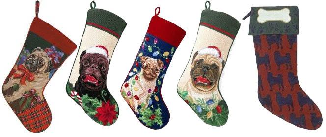 pug christmas stockings