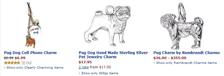 Pug Jewelry At Dogbreed Giftscom